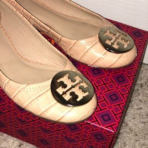 Tory Burch Logo Minnie Flat